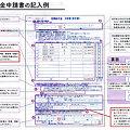 Photos: 定額給付金申請書(記入例)