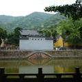 前世はこの池の鯉なりしや? 天童寺放生池 Front view & Pond
