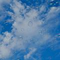 空に広がるシャボン玉