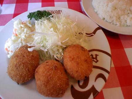 浅草 洋食屋 ヨシカミ カニコロッケ