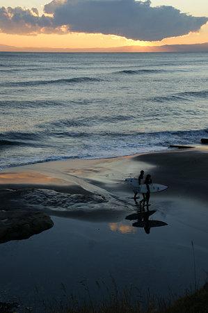 夕方の海0110d