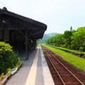 Photos: 嘉例川駅 ホームにて