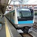 写真: 京浜東北線E233系&浜松町駅の小便小僧