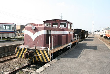 茨城交通湊線のディーゼル機関車(静態保存)
