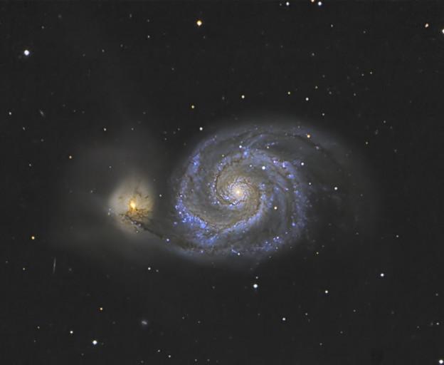 RCD50による子持ち星雲