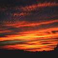 写真: 二日続きの夕焼けです♪ P7281207
