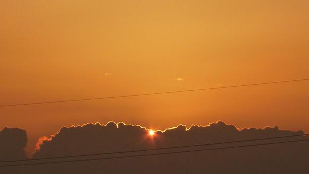 朝日がキラリ P1110793