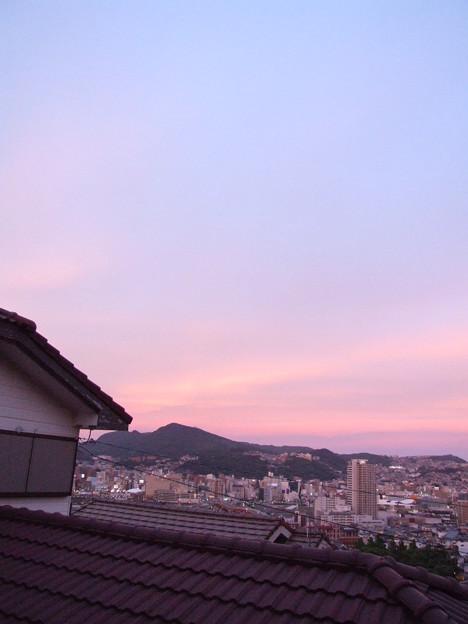 夕焼け 東の空