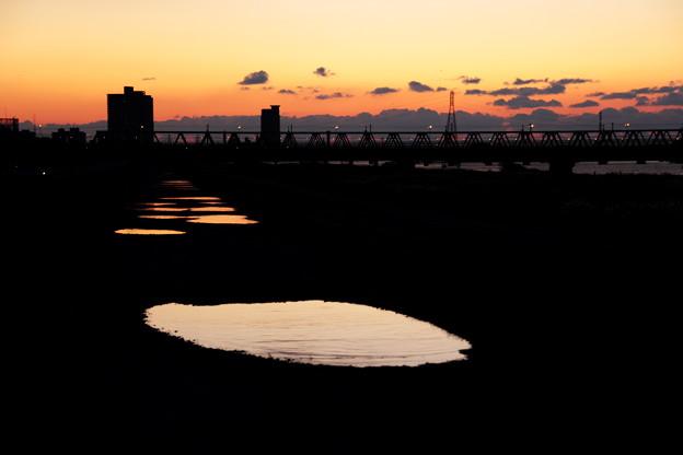 夕日の足跡(2)
