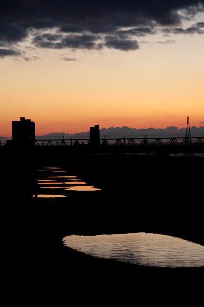 夕日の足跡(3)