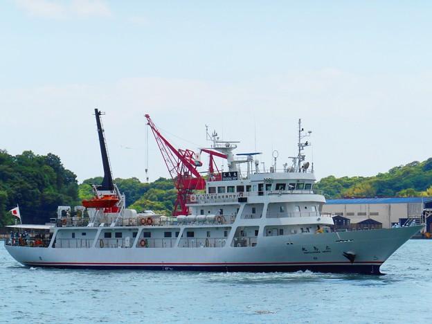 航海実習に出る練習船・広島丸