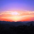 写真: 千光寺山展望台から観た瀬戸の夕日