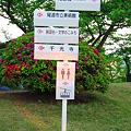 写真: 千光寺公園内の道案内 、西展望台も眺望絶佳
