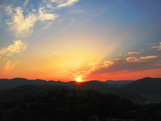 さつき亭から観た瀬戸の夕日-7