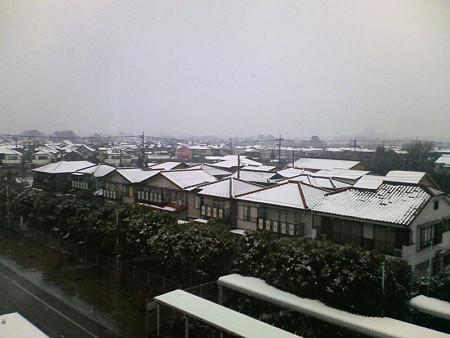 東京近郊の雪景色