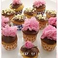 桜のチョコカップケーキ1