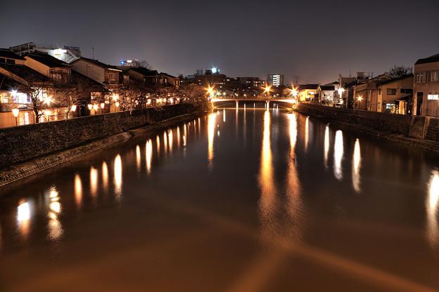 浅野川大橋からの夜景