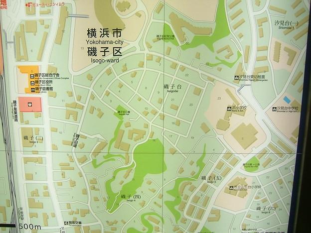 磯子駅周辺図