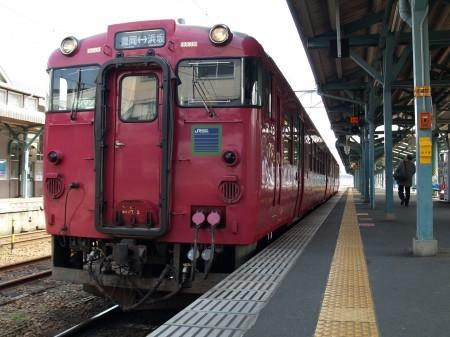 豊岡で浜坂行きの列車に乗り換え