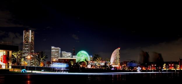 街の灯りがとても綺麗ね~YOKOHAMA