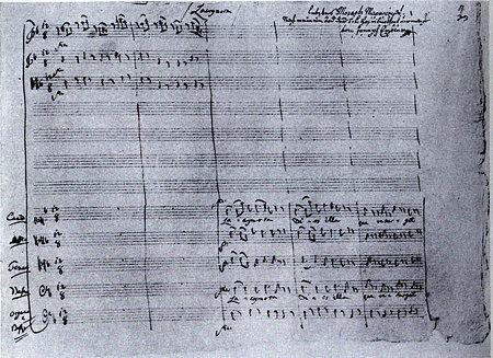モーッアルト:レクイエムの自筆譜